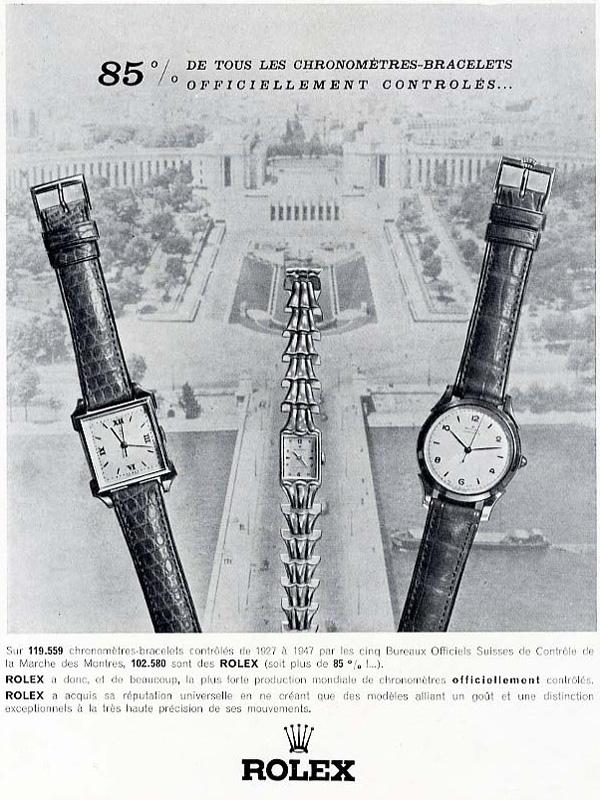 1951, chronomètre & chronomètre ChronometreRolex40s