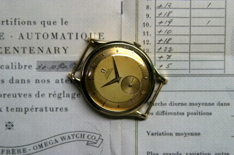 1951, chronomètre & chronomètre OmegaCentenary01
