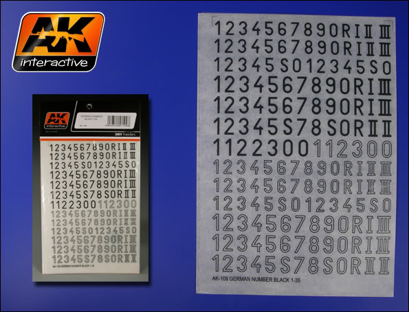 New Products from AK Interactive including F.A.Q.2 10920german20number20black