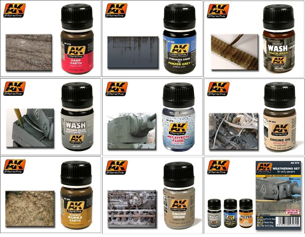 AK Interactive Paints and Weathering Products Set