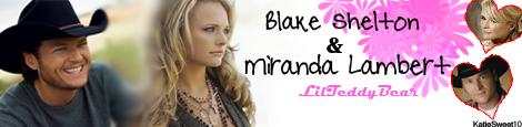 Blake Shelton and Miranda Lambert Siggie Lilteddybear