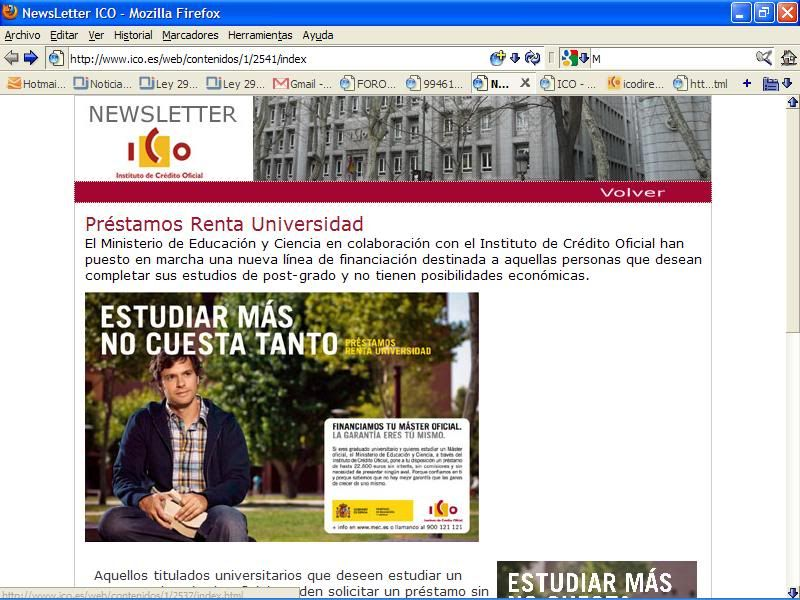 Newsletter Nº3 del ICO: capturas de pantalla NWletterICO1