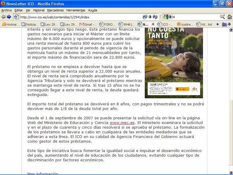 Newsletter Nº3 del ICO: capturas de pantalla NWletterICO2