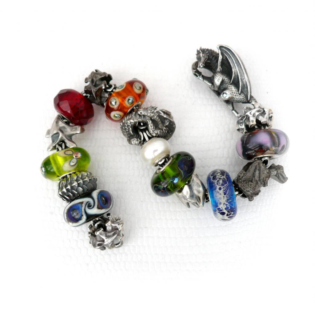 Faerybeads Dragon's Breath and Dark Dragon bead FaerybeadsDragonBracelet_zps384eb36f