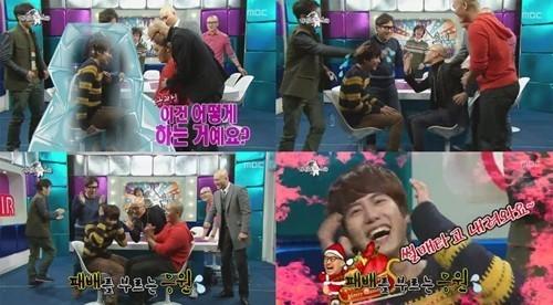 [130110] El popular actor Hong Suk Chun juguetonamente golpea a Kyuhyun de Super Junior. 130109_Kyuhyun_zpsfe9df760