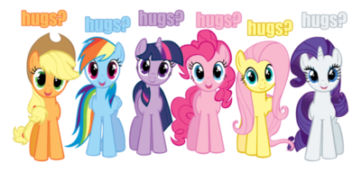 Dare Thread Hugs_vector_mane_6_by_kitsuneymg-d41nylf