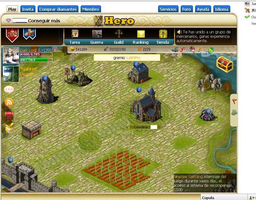Hero juego RPG de facebook muy bueno Castillo