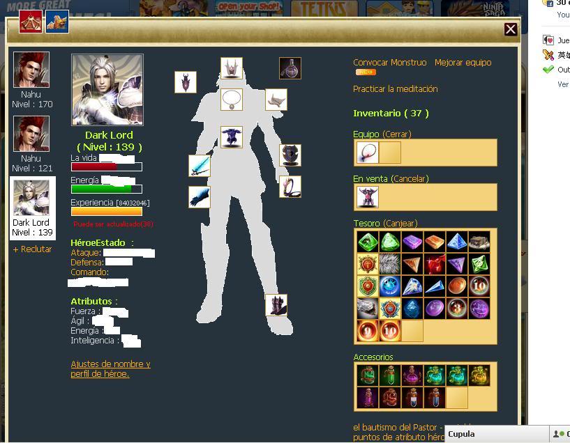 Hero juego RPG de facebook muy bueno Pj
