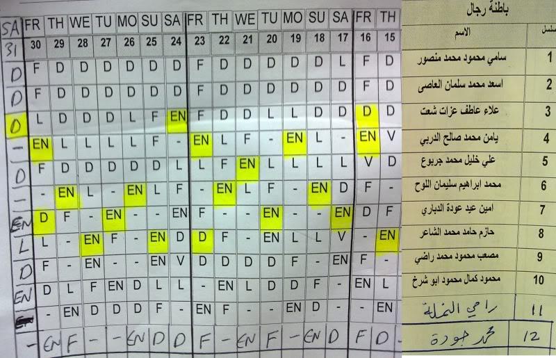جدول الدوام لشهر 12-2011 لغاية 31-12-2011 16-31-11-2011