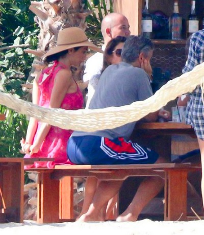 George Clooney enjoys another day in Mexico - but this time his parents join the fun Tumblr_nhbf2b3hTm1tcugf8o9_400_zpsf15833a1