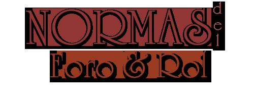 Normas: Foro&Rol Normasforoyrol
