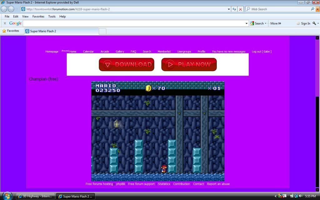 Super Mario Flash 2 GABEMARIOSCORE