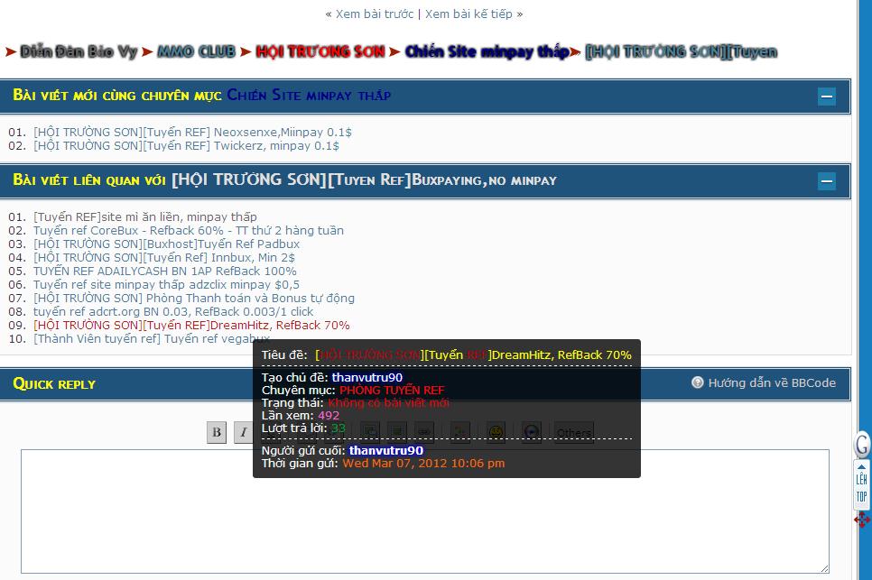 Hoàn thiện Giao diện diễn đàn bằng mã nguồn mới [PunBB] - Page 2 Baivietlienquan