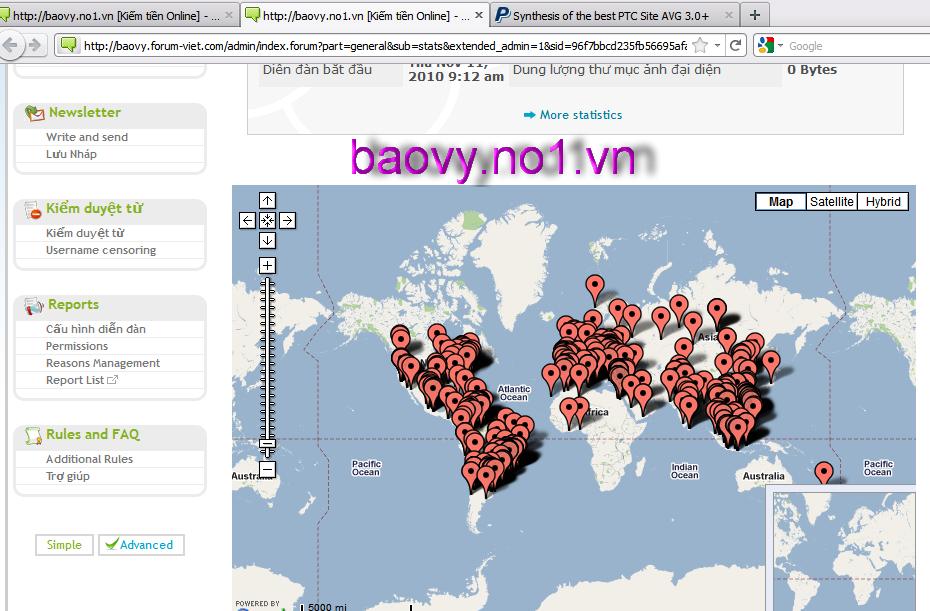 KỶ LỤC về số lượng khách truy cập diễn đàn BaoVyMMO Google