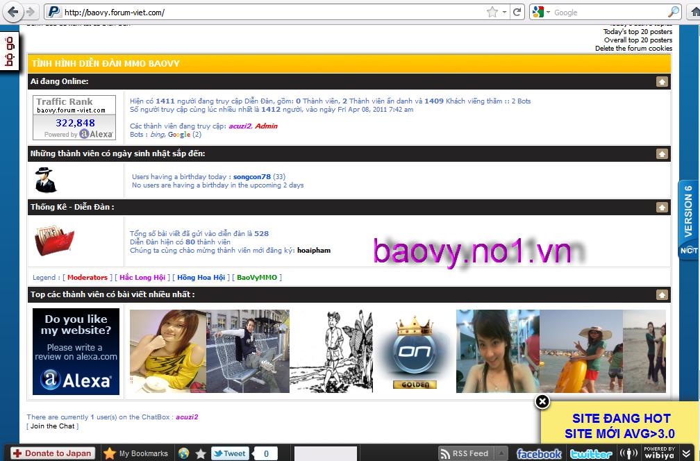 KỶ LỤC về số lượng khách truy cập diễn đàn BaoVyMMO Kyluc7
