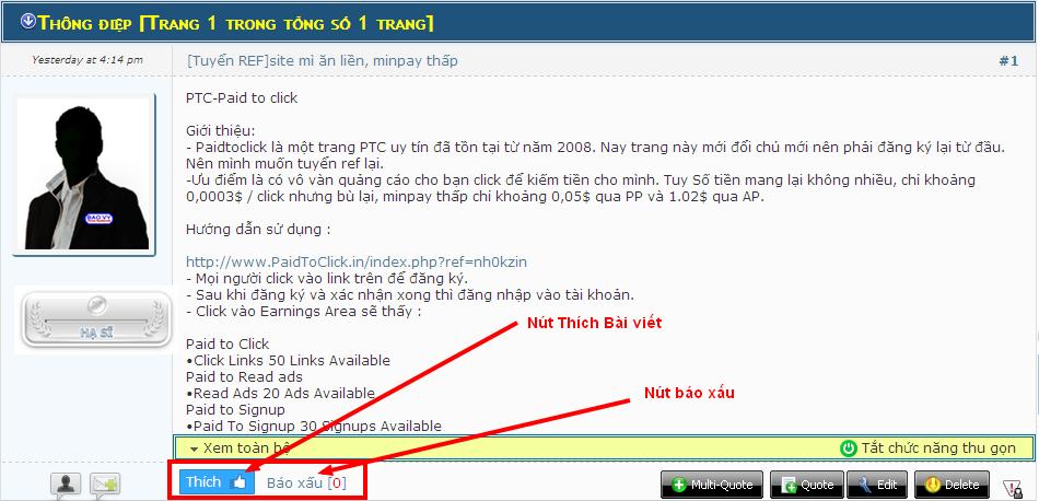 Hoàn thiện Giao diện diễn đàn bằng mã nguồn mới [PunBB] - Page 2 ThichXau
