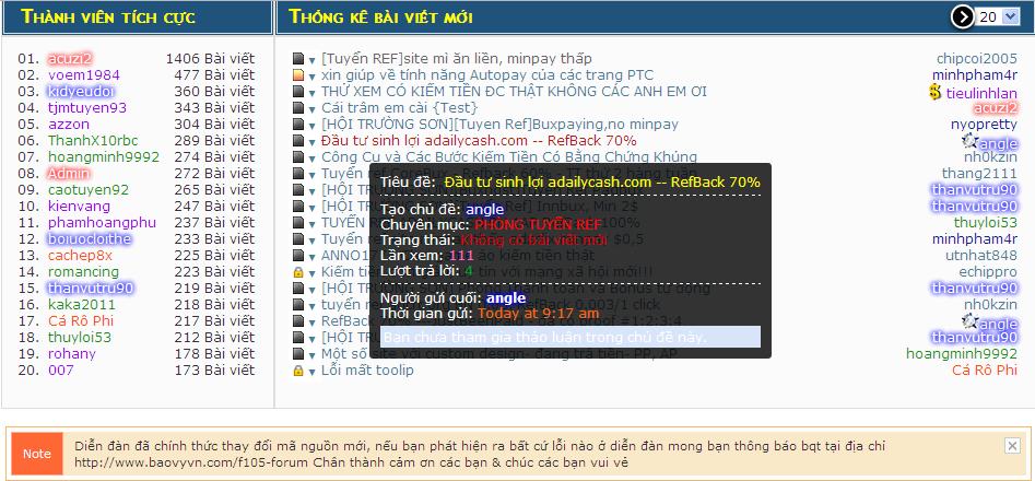 Hoàn thiện Giao diện diễn đàn bằng mã nguồn mới [PunBB] - Page 2 Thongkebaiviet