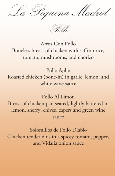 El Menu (The Menu) Pollo