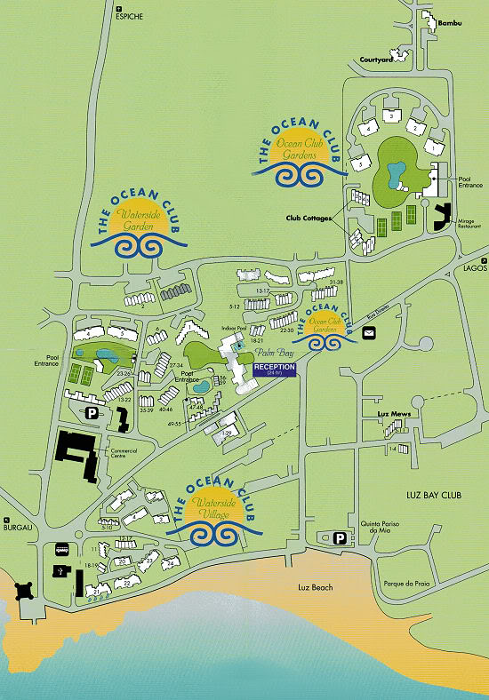 The layout of the Ocean Club complex MAPOC