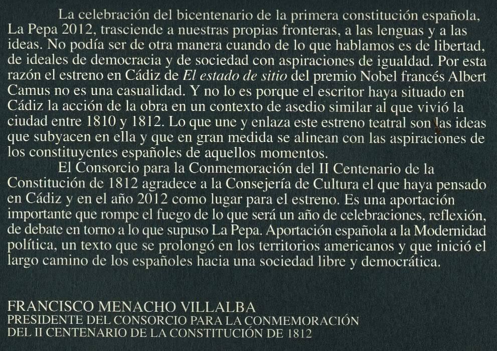 2012 · 02 · 26 · ESTADO DE SITIO · Albert Camus · Cánovas, Málaga El_estado_de_sitio_02