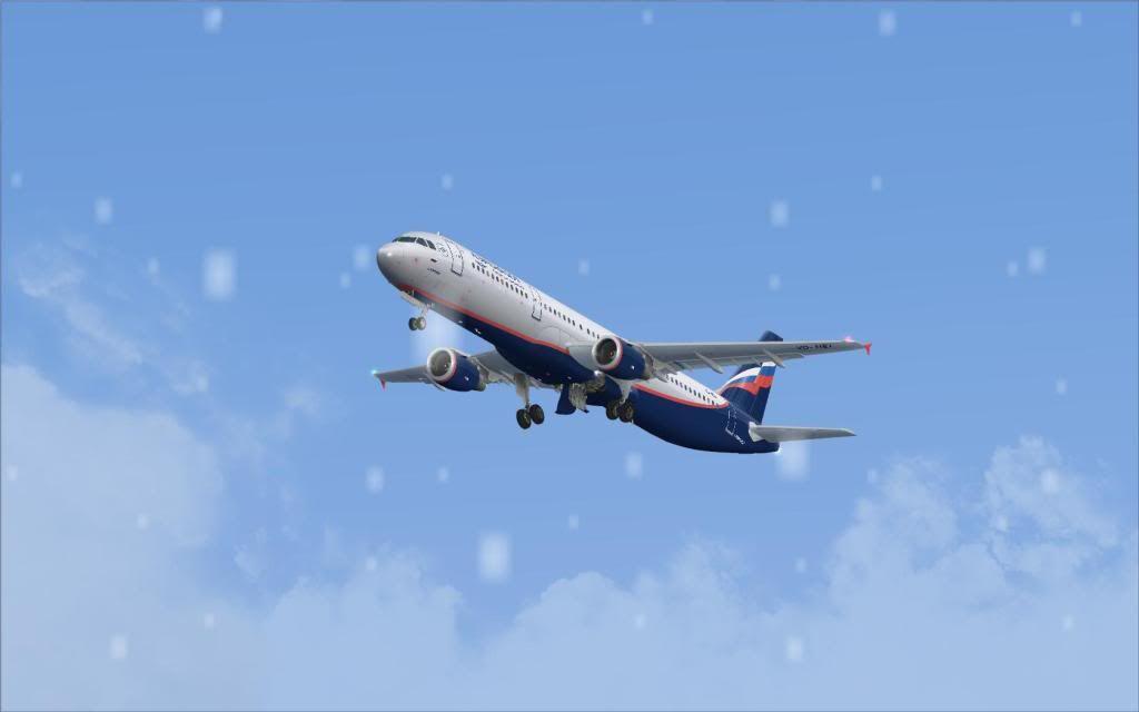 Airbus A321 Aeroflot Fs92012-01-2223-50-19-07