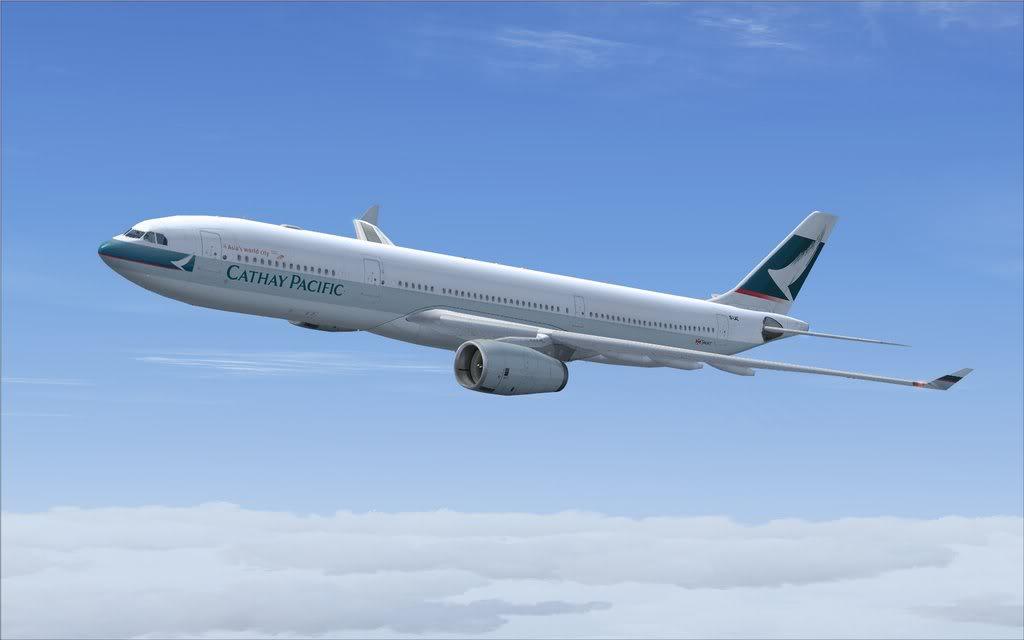 Airbus A330 Cathay Shot0004