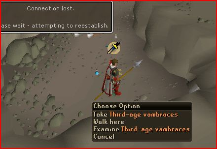 Missed 3rd age Vambs because of server going down Dang