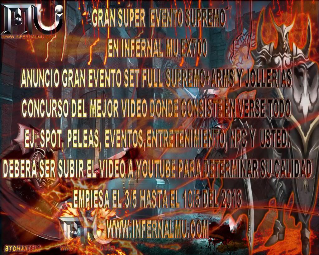 INFERNALMU ESPECIALES EVENTOS[EX700-80%DROP-EXP99999] INFERNALMU-1