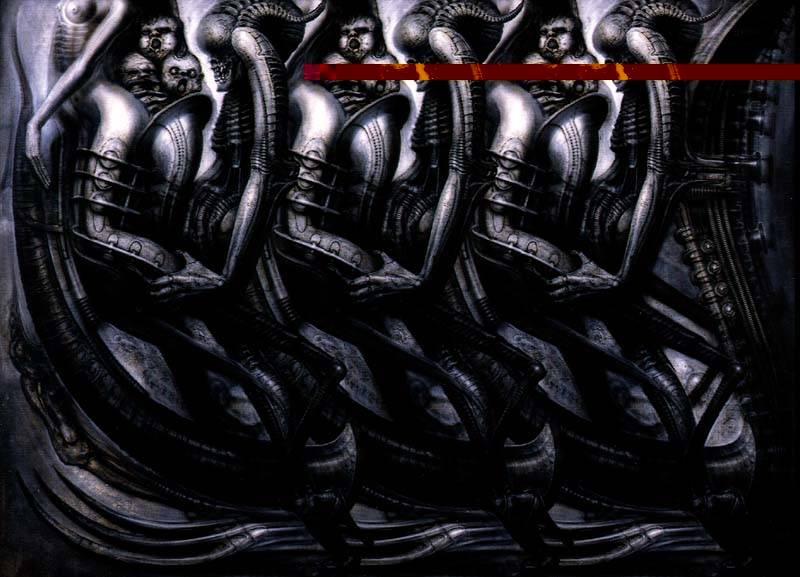 H.R.Giger                             Image_Saxophonist3D