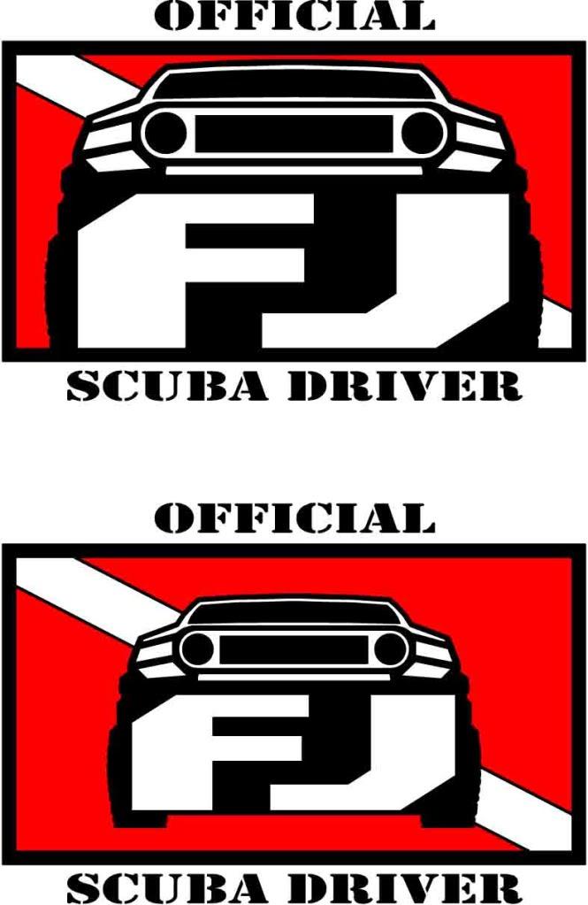 Scuba Driver Stickers SCUBA-2