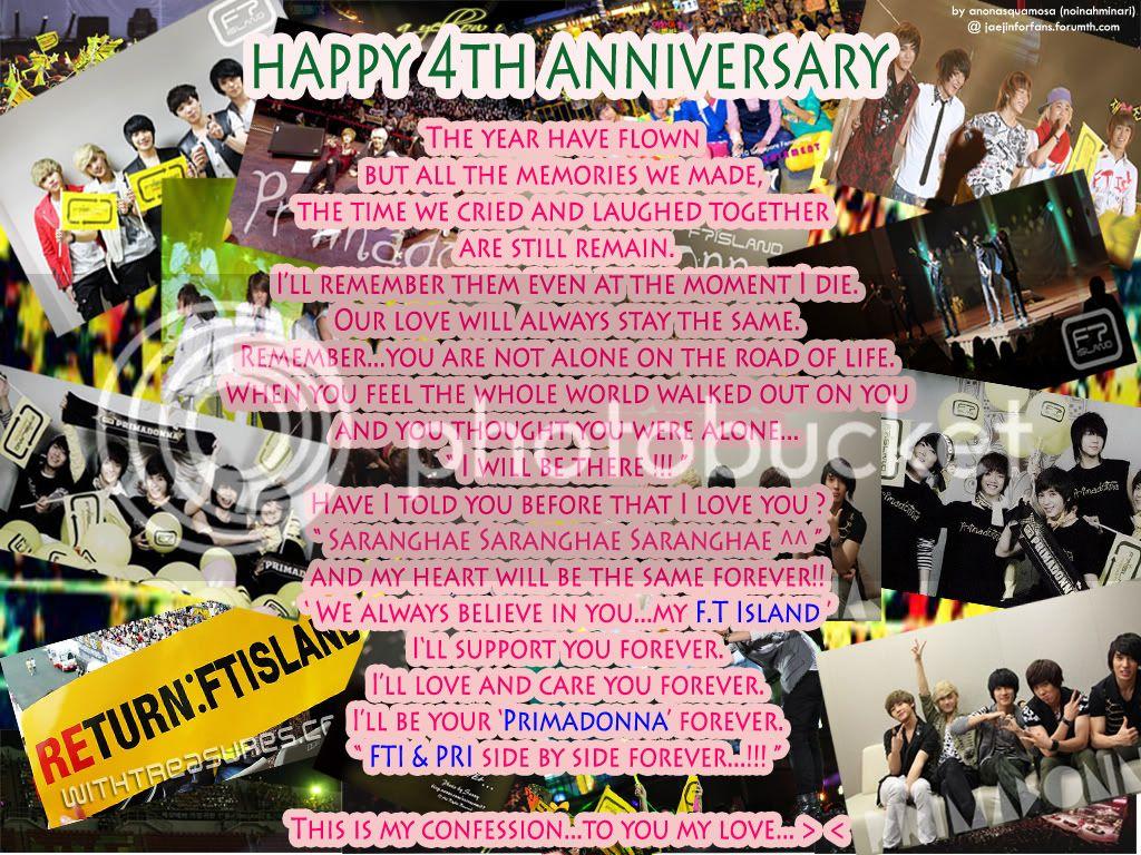 FT Island's 4th Anniversary มาร่วมอวยพรให้เกาะกันเถอะ  Let'Go!!!! Confession