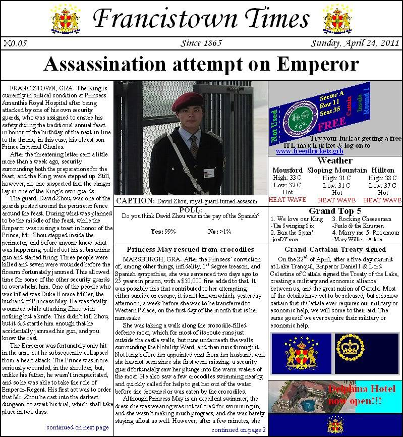 The Imperial Federal Kingdom of Grand, Belluterra, and Malo (USNW) - Page 6 FrancistownTimesApril242011