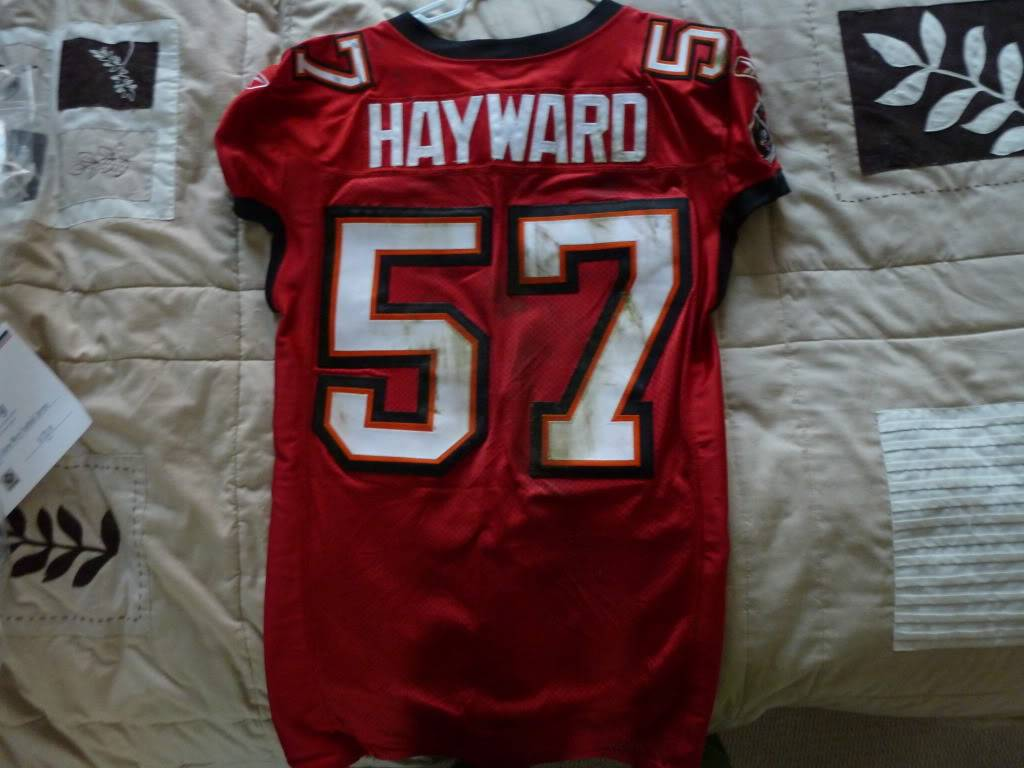 Adam Hayward - 2011 Bucs Game Used P1000701