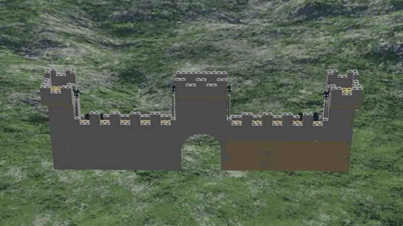 Castle MOC Front-outside