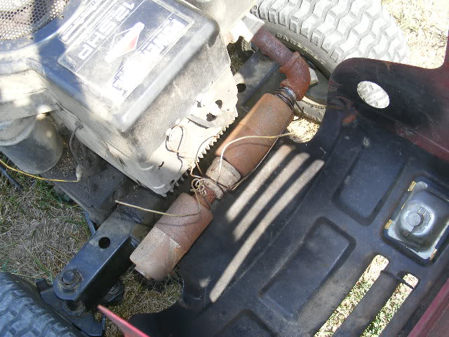 Honda gx390 exhaust ideas DSCF0303