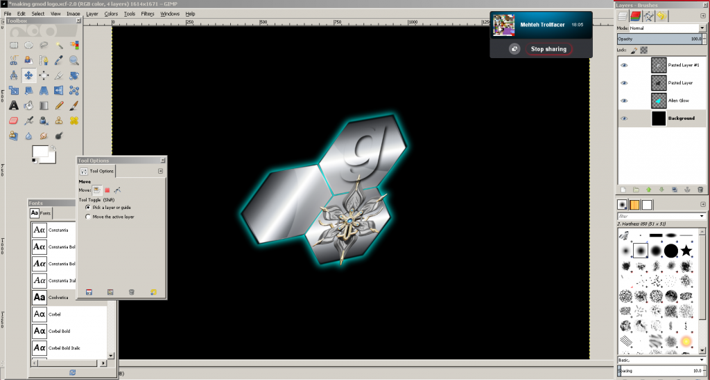 Working on a new Crystal Gaming Logo Workingoncrystalgaminglogo_zpsff38744b