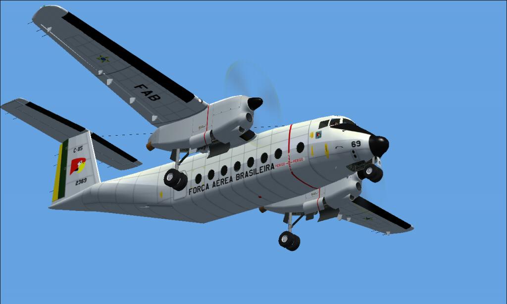 C-115 Búfalo da FAB padrão 1978 À 1987 Fs92014-03-2923-32-13-75