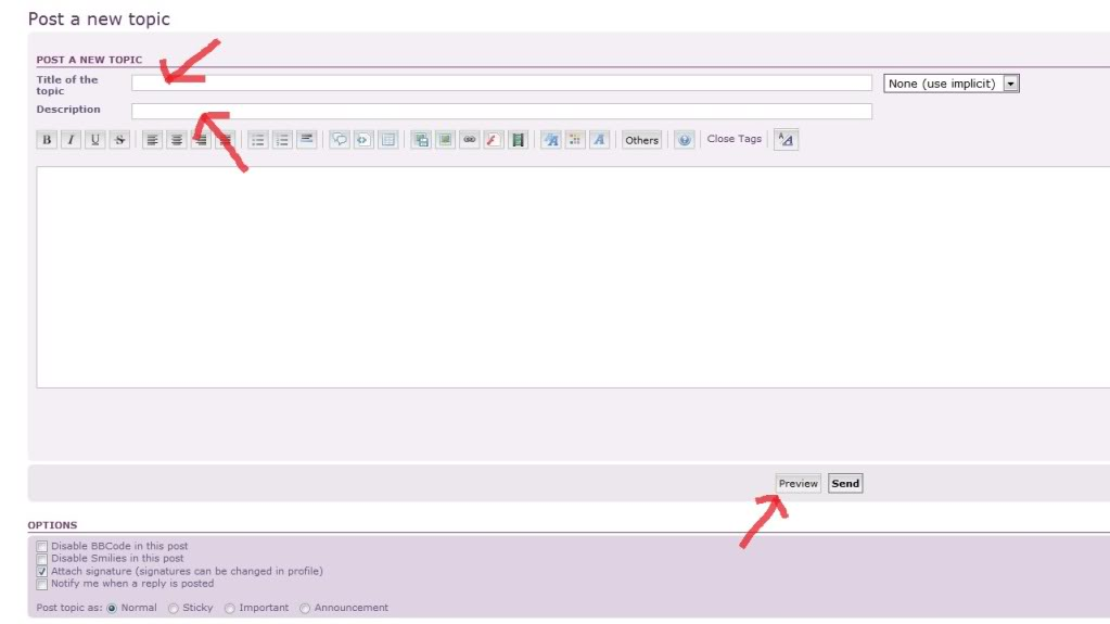 How to post or reply to topics on ASOF 3topictitle