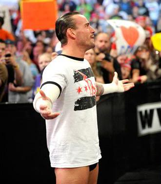 CM Punk comes out to talk about John Cena CMPunkRAW1-10