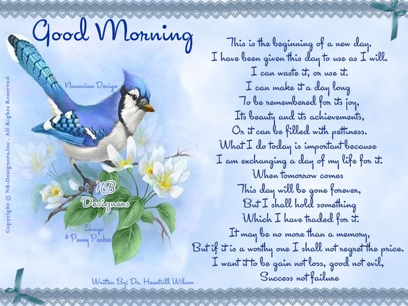 ~ Good morning  Card  design By Nanncian ~ A-New-Day