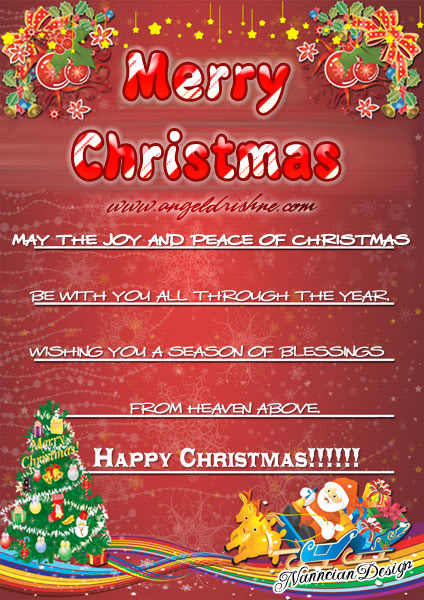 ~*~ Christmas Cards Design By Nanncian ~*~ Charistmascard4