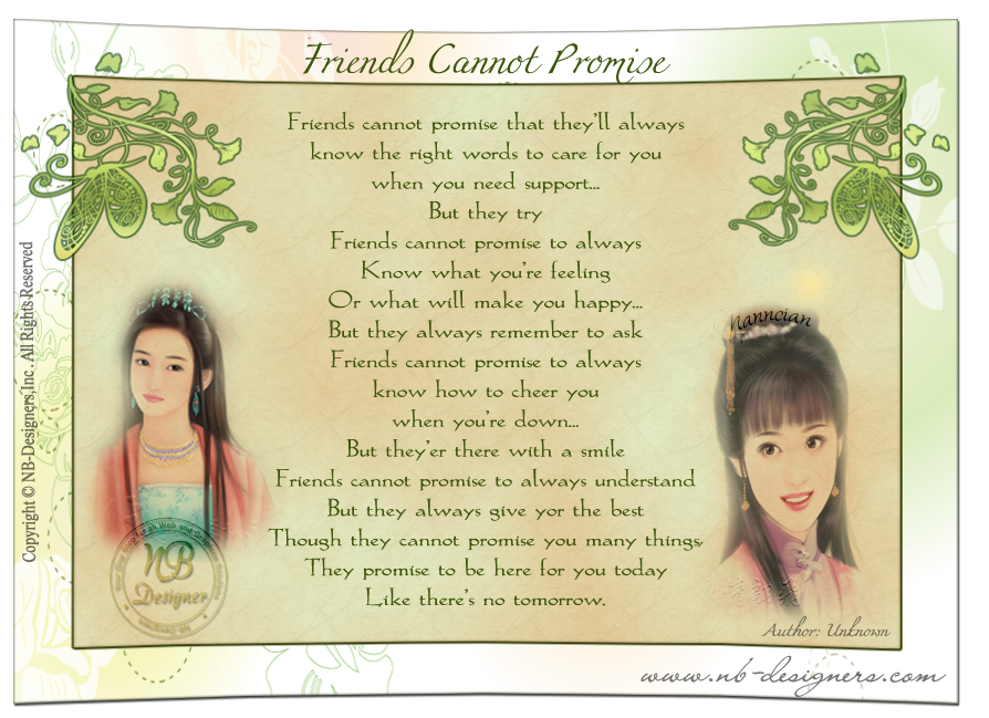 ~ Friendship Card's Collection by Nanncian Design ~ - Page 2 Frends-Cannot-Promise