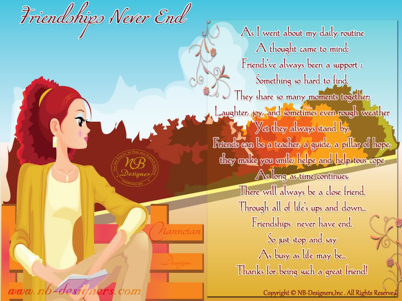 ~ Friendship Card's Collection by Nanncian Design ~ Friendships-Never-End