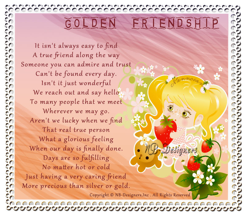 ~ Friendship Card's Collection by Nanncian Design ~ - Page 2 Golden-Friendship