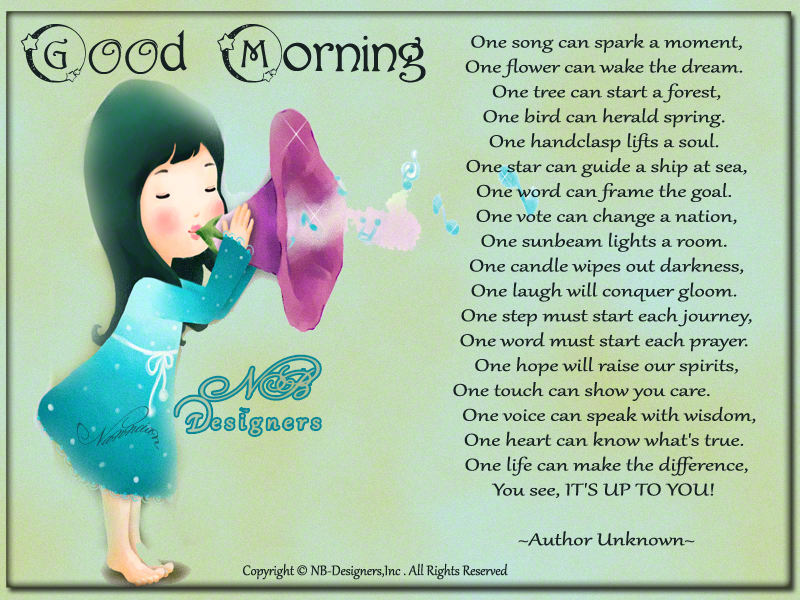~ Good morning  Card  design By Nanncian ~ ITS-UP-TO-YOU
