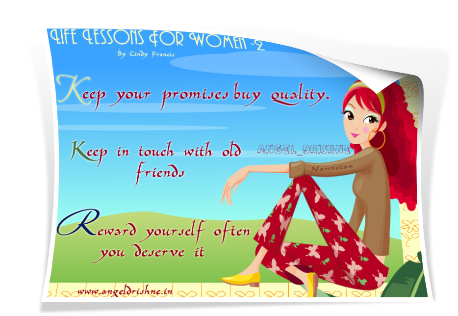 """ Life Lessons For Womens Nanncian Design"" Life-Lessons-For-Women--2"