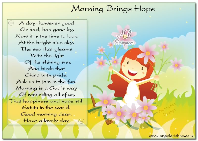 ~ Good morning  Card  design By Nanncian ~ Morning-brings-hope