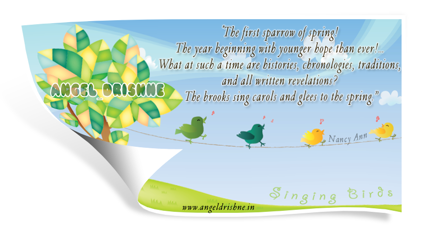 Season Card By Nanncian The-first-sparrow-of-spring