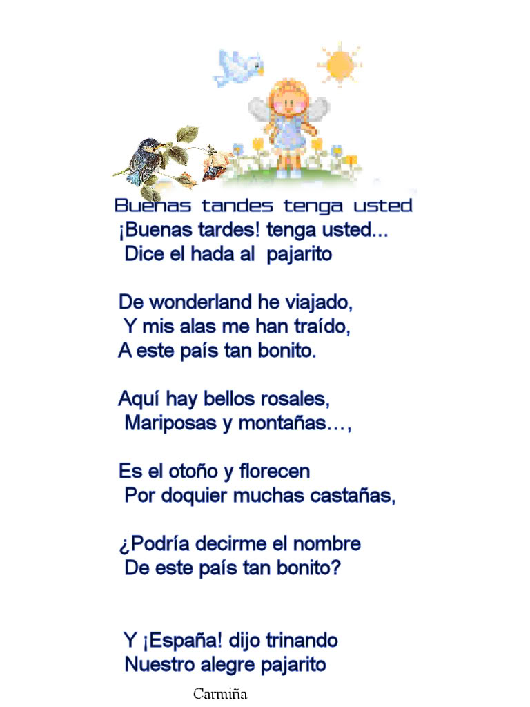 BUENAS TARDES TENGA USTED Buenastardepajarito