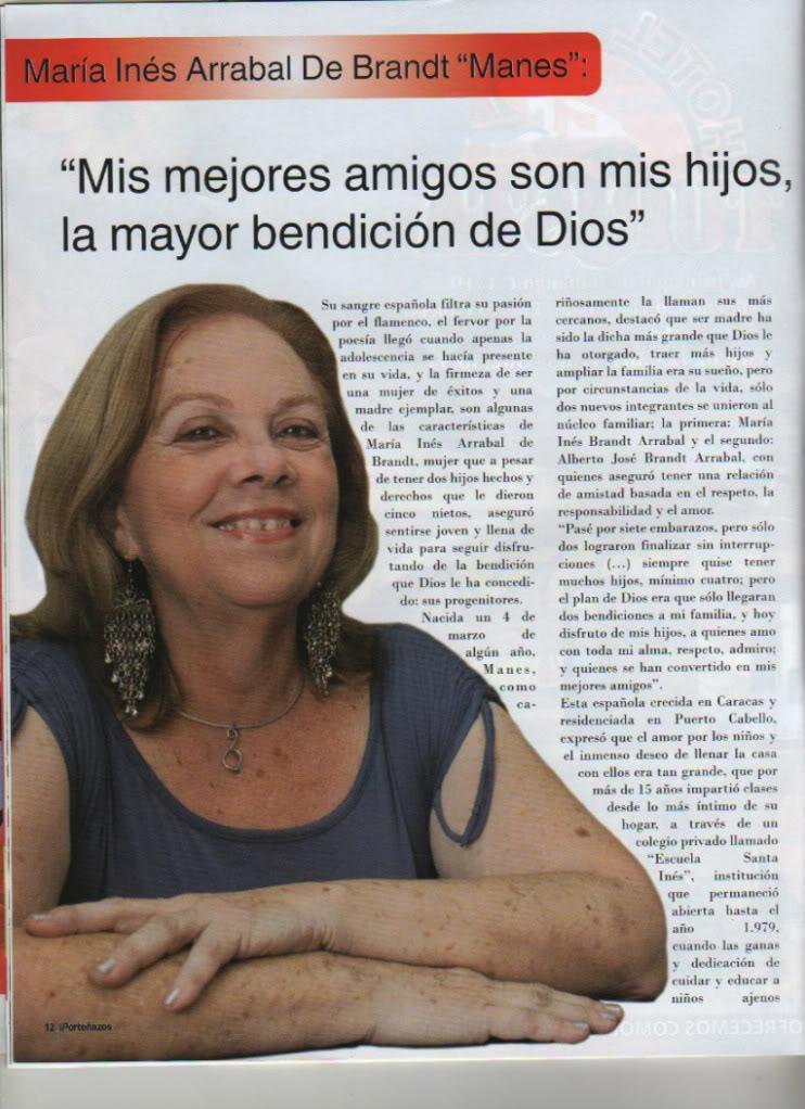 Maria Inés Arrabal: Sus sueños , sus exitos. Manes1